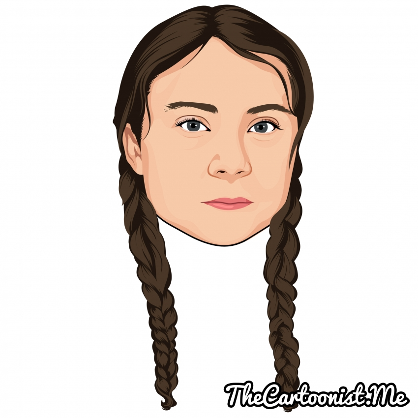 Greta Thunberg by TheCartoonist